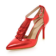 Women's Shoes Stiletto Heel /Pointed Toe Heels Tassel Wedding/Party & Evening/Dress Blue/Pink/Red/Silver/Gold