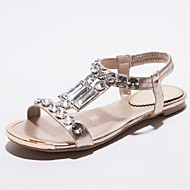 Women's Shoes Flat Heel Mary Jane / Gladiator Sandals Office & Career / Dress / Casual Silver / Gold