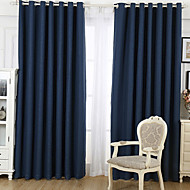 SIMPLE MODERN TWO PANELS SUPERIOR COTTON LINEN LIVING ROOM BEDROOM THICHEN FABRIC BLACKOUT CURTAINS DRAPES