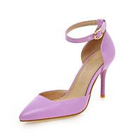 נעלי נשים-בלרינה\עקבים-דמוי עור-עקבים / שפיץ-שחור / ורוד / סגול / לבן-חתונה / שמלה / מסיבה וערב-עקב סטילטו