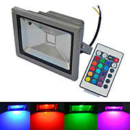 JIAWEN Waterproof 20W Warm White/ White/ RGB Light Remote Control LED Flood Lamp (AC85~265V)