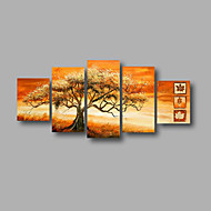 """allungato (pronto da appendere) pittura a olio dipinta a mano 60 moderni alberi di foresta astratta """"x32"""" di arte della parete della tela"""