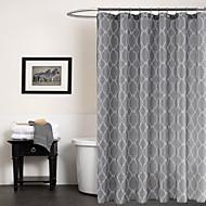 Moderní šedá geometrický sprchový závěs 71x72inch, 71x79inch