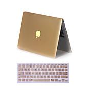 """2 in 1 matta metallin värinen koko kehon kotelo kansi näppäimistö kattaa MacBook Air 11 """"pro 13"""" / 15 """""""