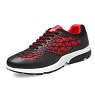 Men's Shoes Casual/Travel/Athletic/Runing Fashion Sneakers Tulle Leather Shoes Black/Orange/Red