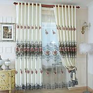 שני פנאלים טיפול חלון מודרני חדר שינה פוליאסטר חוֹמֶר וילונות וילונות קישוט הבית For חַלוֹן