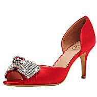 Scarpe da sposa-Sandali-Spuntate / D'Orsay / Aperta-Matrimonio / Formale / Serata e festa-Rosso / Champagne-Da donna
