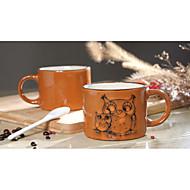 pintados à mão xícara de cerâmica grande canecas personalidade copo de café retro restaurante copo de chá 300 ml