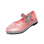 Girl's Summer Gladiator Leatherette Outdoor / Casual Flat Heel Crystal / Bowknot / Applique / Magic Tape Black / Blue / Pink / Red