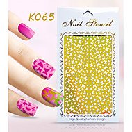 New Nail Art Hollow Stickers Flower Butterfly Dolphin Geometric Image  Design  Nail Art Beauty K061-070