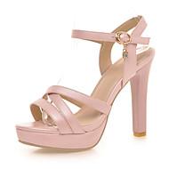 Women's Shoes Stiletto Heels/Platform/Open Toe Sandals Party & Evening/Dress Pink/White/Almond