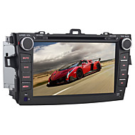 8 Inch Quad Core 2 Din Android 4.4 Car DVD Player for Toyota Corolla 2008-2011 with 1024*600,GPS,Radio,WIFI,BT