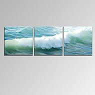 Paisaje / Patriótico / Moderno / Romamticismo / Famoso Impresión de la lona Tres Paneles Listo para colgar,Horizontal