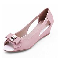 Ženske cipele-Sandale-Ured i karijera / Formalne prilike-Umjetna koža-Puna potpetica-Pune pete / Cipele otvorenih prstiju-Ružičasta /