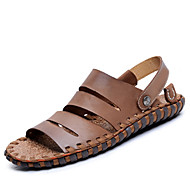 Men's Spring / Summer / Fall Comfort Nappa Leather Outdoor / Casual Flat Heel Brown / Camel