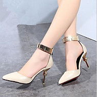 Women's Shoes Metal Patent Leather Stiletto Heel Pointed Toe / Closed Toe Heels Office & Career / Party & Evening