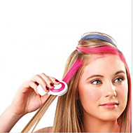 ny 4 farve / sæt Hot europæiske mode midlertidig hår kridt pulver midlertidig pastel hårfarve midlertidig udvaskning