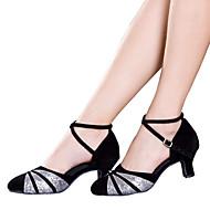Μη Εξατομικευμένο-Λάτιν-Παπούτσια Χορού- μεΚουβανικό Τακούνι- απόΣατέν / Βελούδο / Λαμπυρίζον Γκλίτερ / Πούλιες / Συνθετικό- γιαΓυναικείο