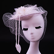 Women's Feather / Flax Headpiece-Wedding / Special Occasion / Casual / Outdoor Fascinators 1 Piece
