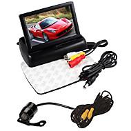"""4,3 """"dobrável display LCD monitor kit + carro câmera de visão traseira hd"""