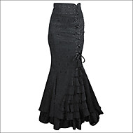 Shaperdiva Women's Steampunk Retro Long Skirt Jacquard Fishtail Vintage Dress