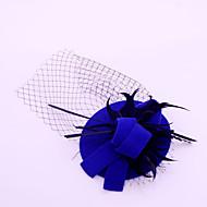Women's / Flower Girl's Feather / Flannelette / Net Headpiece-Wedding / Special Occasion / Outdoor Fascinators 1 Piece