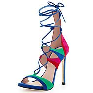 Women's Shoes Heel Heels / Peep Toe Sandals / Heels Party & Evening / Dress / Casual Black / Green / Red