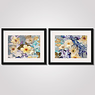 Framed Colorful Abstract Flowers Canvas Print 40x50cmx2pcs Modern Wall Art for Home Decoration Ready To Hang