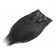 20-24inch 8pieces 100g hair clip in human hair extensions