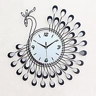 עגול / מצחיק / אחרים מודרני / עכשווי שעון קיר,פרחוניים/בוטניים / בעלי חיים / נופי / חתונה / משפחה זכוכית / מתכת 54cm x 54cm( 21in x 21in )