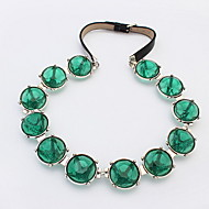 Fashion Bohemian Style Women 2016 Multilayer Round Green Beads Collar Necklace Choker Chain Statement Necklace