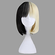Breve rettilineo sintetico Sweet Lolita parrucca nera e Blonde