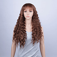 Fashion Synthetic Wigs Lace Front Wigs 28inch Loose Wave Brown Heat Resistant Hair Wigs Women