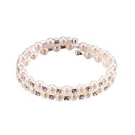 Bracciali Per donna Collezione Persona Beads / Filo / Braccialetti Rotondi Argento Perle / Strass