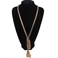 New Jewelry Accessories Punk Style Multi-Layer Hollow Long Tassel Chain Gold Necklace for Vintage Women
