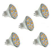 5W GU4(MR11) LED-kohdevalaisimet MR11 12 SMD 5730 560 lm Lämmin valkoinen / Kylmä valkoinen Koristeltu DC 12 V 5 kpl