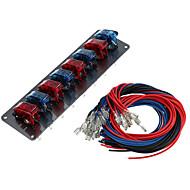 jtron flip-up 8-switch panel til sport racerbil (dc 12v)