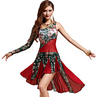 Belly Dance Dresses Women's Training Lace Lace 2 Pieces Green / Orange / Red Belly Dance Sleeveless Natural
