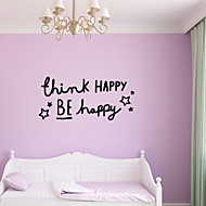 Wall Stickers Wall Decals Style English Words & Quotes PVC Wall Stickers
