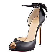 Women's Shoes Leatherette  Peep Toe Thin Heels11cm Office & Career / Party & Evening / Dress Pumps Shoes