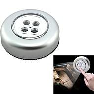 ziqiao interior del coche automático 4 llevó la luz del tacto de emergencia portátil / coche / uso en el hogar al aire libre