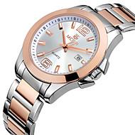 Brand Watch Women Full Stainless Steel Gold Watch Men Montre Femme Fashion Business Waterproof Lover's Quartz-Watch Cool Watches Unique Watches