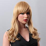 ゴージャスな女性の人間の処女レミーの手縛らトップロング緩いウェーブキャップレス毛のかつら