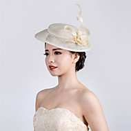 ivory Wedding Party Sinamay Flower Fascinator Cocktail Wedding Hat