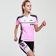 Mysenlan Jerseu Cycling cu Pantaloni Scurți Pentru femei Mânecă scurtă Bicicletă Set de ÎmbrăcăminteUscare rapidă Rezistent la