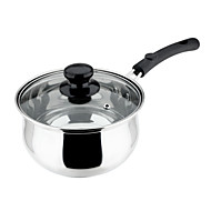 The  Stainless Steel Thick Bottom Soup Pot  And  Milk Pan 18cm