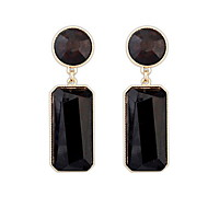 Top Fashion Round and Rectangle Shape Drop Earrings for Women Wedding Gifts