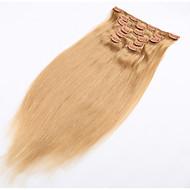 Clip-in rozszerzenia włosy naturalne ludzkie włosy miękkie brazylijskich produktów do włosów z klipsem w - 20 dostępnych kolorów
