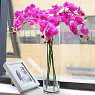 Pět hlav hedvábí Phalaenopsis umělé květiny 1ks / set