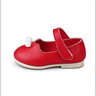 Bez podpatku-PU-Mary Jane-Dívčí-Růžová / Červená / Bílá-Šaty / Běžné